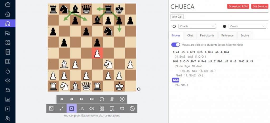 chesslang session