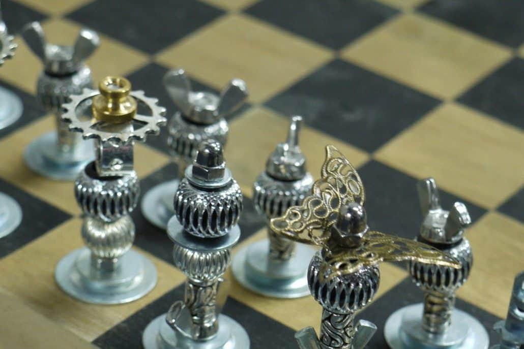 medieval chess set renaissence
