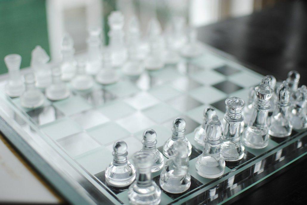 glass chess sets amazon