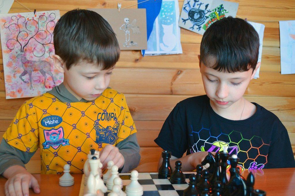 chess on children development kid